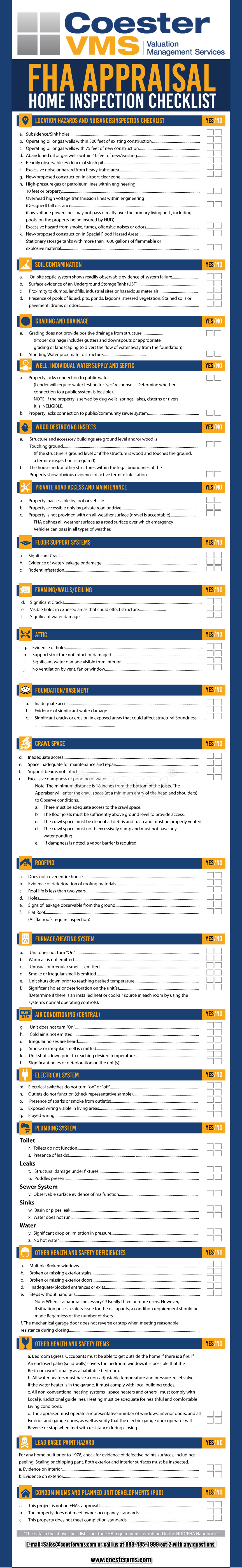 FHA Checklist graphic